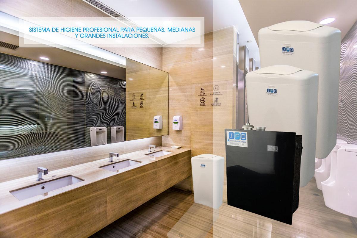 Papeleras higienicas en Barcelona y Granollers